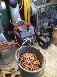 """19 kilo """"noten"""" voor de speeltrommel."""