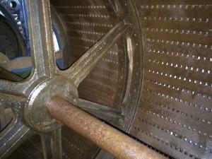 De binnenkant van de trommel is ook roestvrij gemaakt.